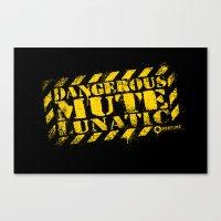 glados Canvas Prints featuring Dangerous Mute Lunatic by R-evolution GFX