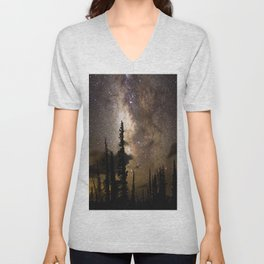 Mountain Milky Way Unisex V-Neck