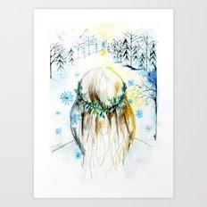 Winter Glow Art Print