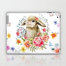 Little bunny watercolor illustration Laptop & iPad Skin