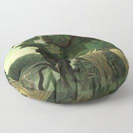 """Henri Rousseau """"The Snake Charmer"""", 1907 Floor Pillow"""