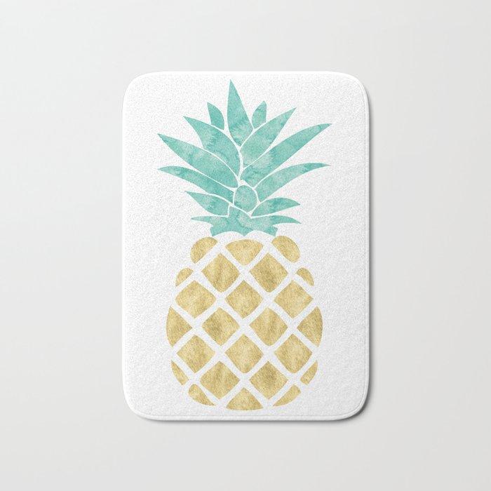 Gold Pineapple Bath Mat