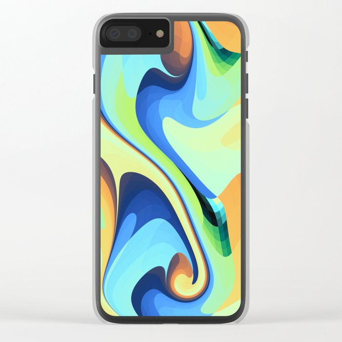 Color waves Water and Sun Clear iPhone Case