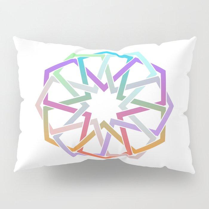 Geometric Art - Hexagon Rose Pillow Sham