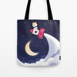 COSMODOG : Reach for the moon Tote Bag