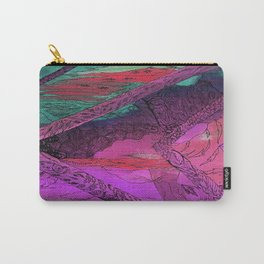 Purple Chevron Trippyness Carry-All Pouch