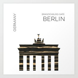 Urban Art BERLIN Brandenburg Gate Art Print