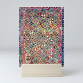 Afshar Varamin North Persian Rug Mini Art Print