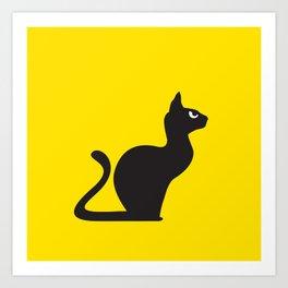 Angry Animals: Cat Art Print