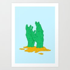 The hot grasp of the summer Art Print