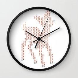 Little deer/fawn cross stitch Wall Clock