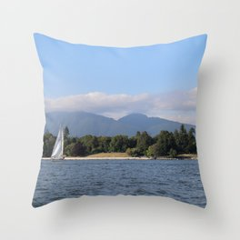 City by Sea Throw Pillow