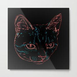 Tabby Kitty Metal Print