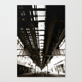 """Beneath the """"L"""" Train - Chicago Canvas Print"""