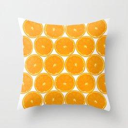 Orange Fruit Pattern Throw Pillow