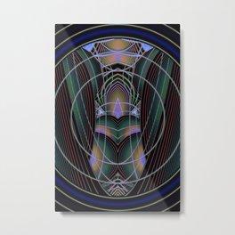 Through The Portal Abstract Metal Print