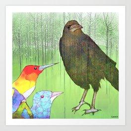 Le roi corbeau Art Print