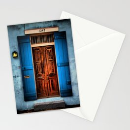 French Quarter Antique New Orleans Doorway Stationery Cards