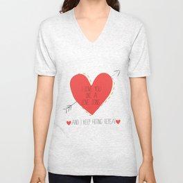 I Love You Like A Love Song  Unisex V-Neck