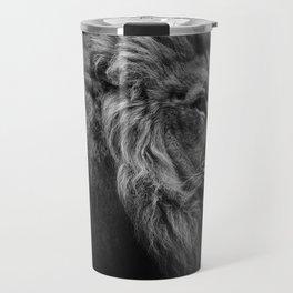 Black Print Lion Travel Mug