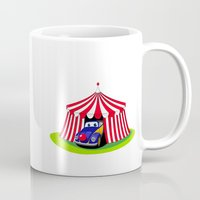 clown Mugs featuring Clown by Maestral
