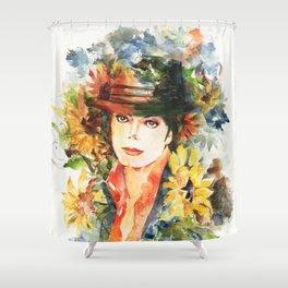 Sunflowers fedora Shower Curtain