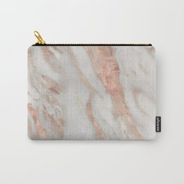 Civezza rose gold marble quartz Carry-All Pouch