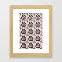 Blue & Chocolate Paisley Framed Art Print