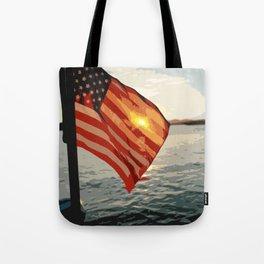 Patriot's Sunset Tote Bag