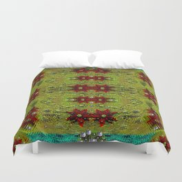 Shield of spice pop art and pattern Duvet Cover