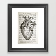 Anatomical Heart on French Framed Art Print