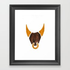 BULL HEAD ILLUSTRATION / SINGLE - SUMMER 2017 Framed Art Print