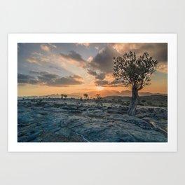 Al-Dschabal al-Achdar at sunset Art Print