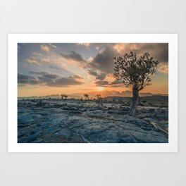 Al-Dschabal al-Achdar at sunset Art Print