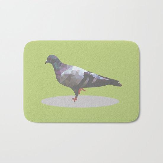 pigeon  polygon style Bath Mat