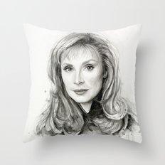 Beverly Crusher Throw Pillow