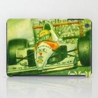 senna iPad Cases featuring Ayrton Senna Tribute by TheToonPlanet
