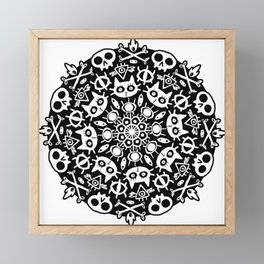 Cat Mandala Framed Mini Art Print