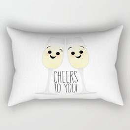 Cheers To You! Champagne Rectangular Pillow