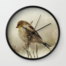 Snowing Wall Clock
