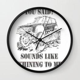 Off-Road Whining Rock Crawler 4x4 Gear Head Shirt Wall Clock