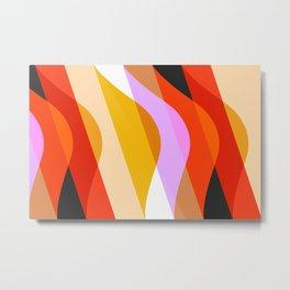 Abstraction_WAVES_OCEAN_COLOR_Minimalism_001 Metal Print