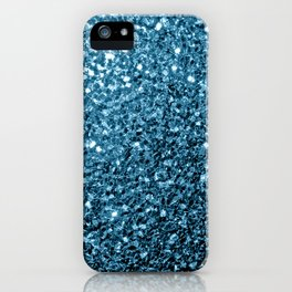 Beautiful Baby blue glitter sparkles iPhone Case