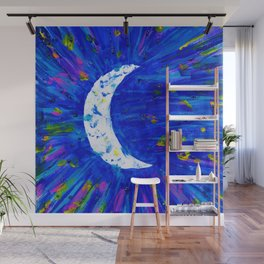 Glitter Crescent Moon Phase Wall Mural
