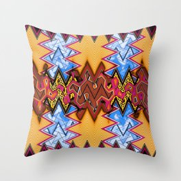 abstract zees 3 Throw Pillow