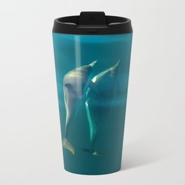 Dolphin Love Metal Travel Mug
