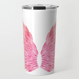 Pink Angel Wings Travel Mug