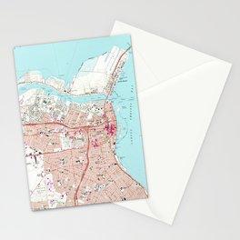 Vintage Map of Corpus Christi Texas (1968) Stationery Cards