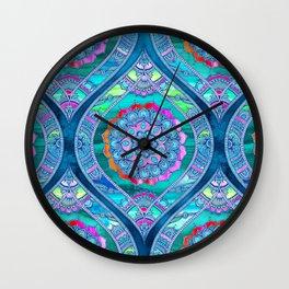 Radiant Boho Color Play Wall Clock