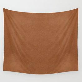 Realistic Light Brown Leather Print Wall Tapestry